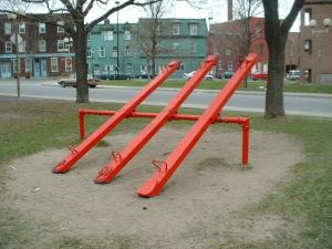 The see-saw was another deathtrap in the 80s and 90s.