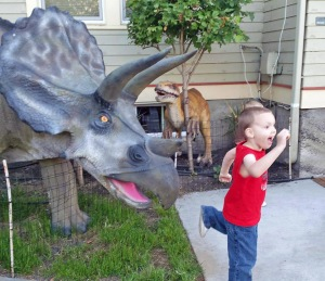 Young boys tend to like dinosaurs, trucks and super heroes.